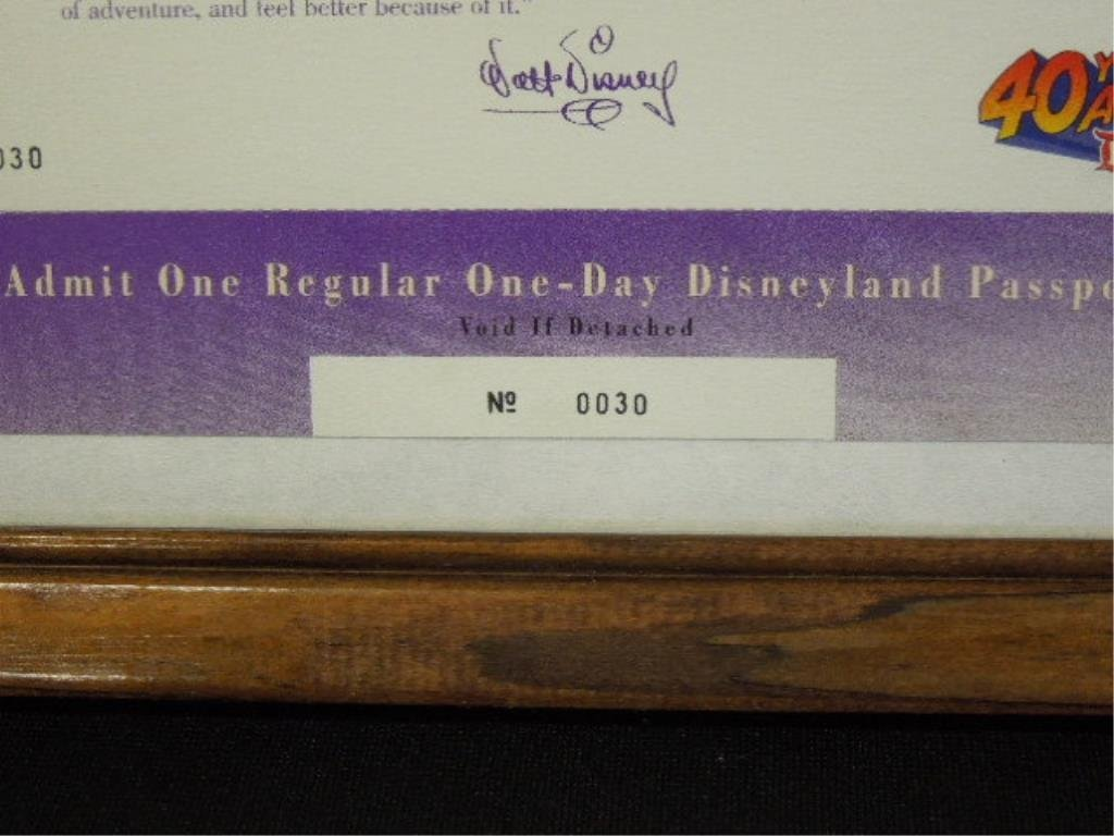 Framed 1995 Disneyana Passports & Other - 3