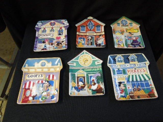 6 Mickey's Village Plates