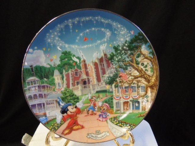 8 WDW 25th Anniversary Plates - 2
