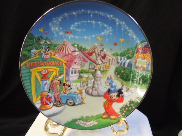 8 WDW 25th Anniversary Plates - 8