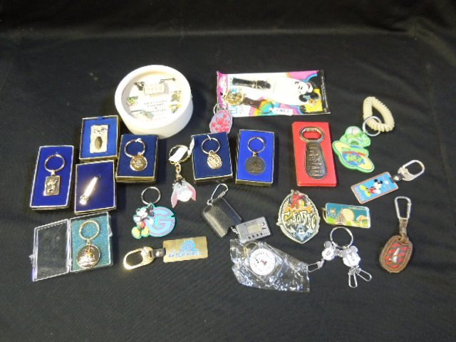 Lot Disney Keychains and Other