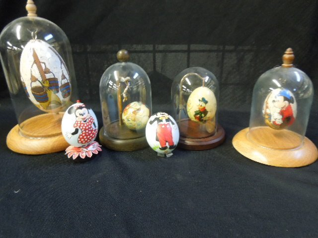 6 Hand Painted Disney Eggs