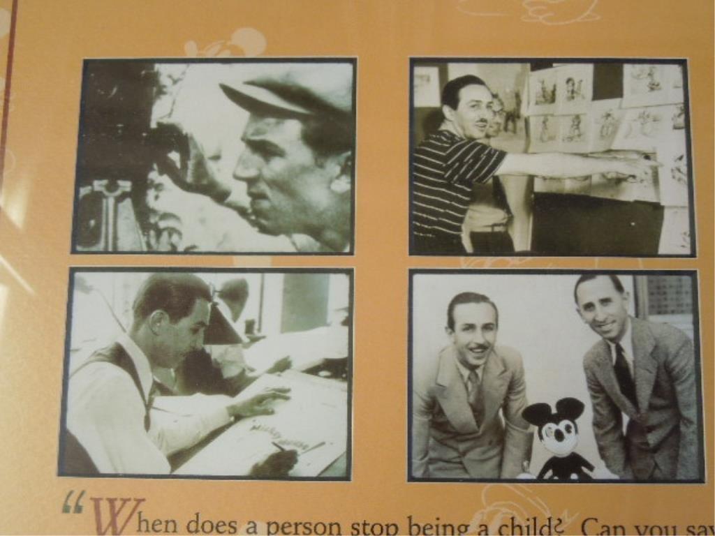 2 Framed Walt Disney Posters - 8