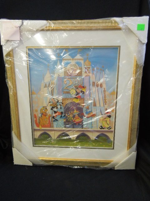 Disneyana Small World Sericel framed
