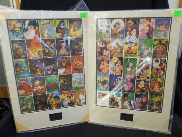 2 Disneyana Uncut Trading Card Sheets