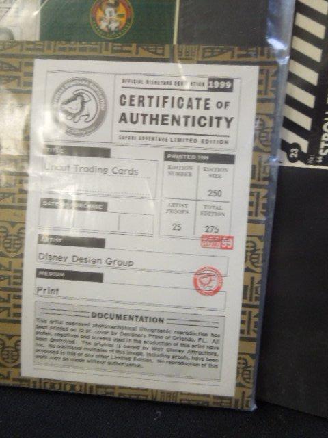 2 Disneyana Uncut Trading Card Sheets - 7