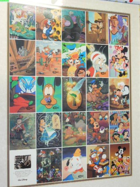2000 Disneyana Uncut Sheet Cards framed