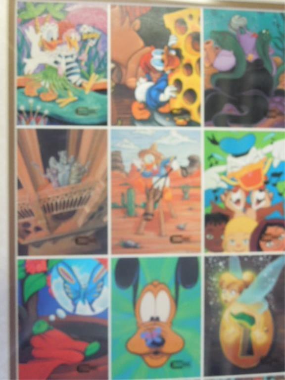 2000 Disneyana Uncut Sheet Cards framed - 2