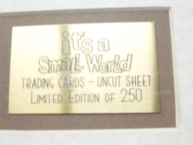 2000 Disneyana Uncut Sheet Cards framed - 5