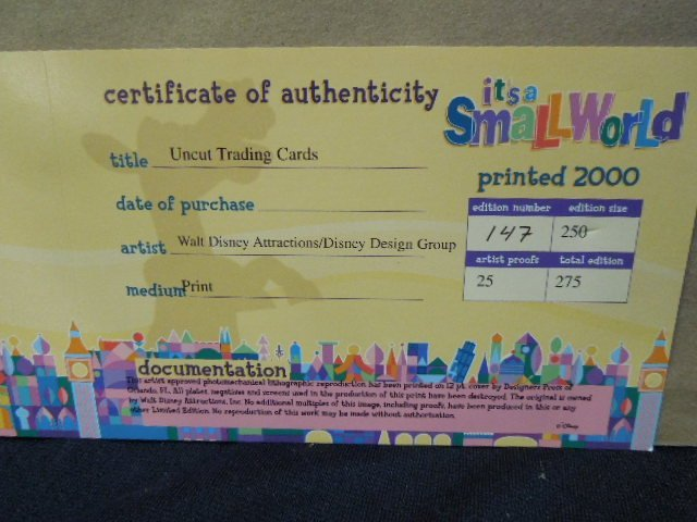 2000 Disneyana Uncut Sheet Cards framed - 8