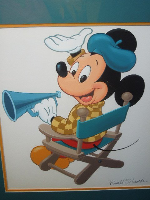 Russell Schroeder Signed Mickey Mouse Gouache - 2