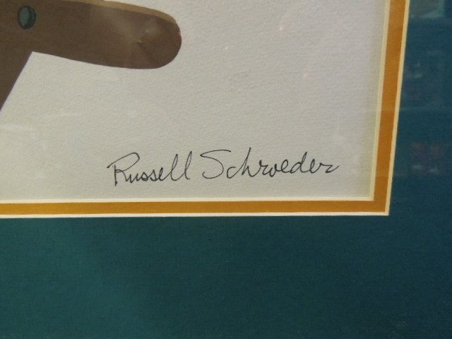 Russell Schroeder Signed Mickey Mouse Gouache - 3