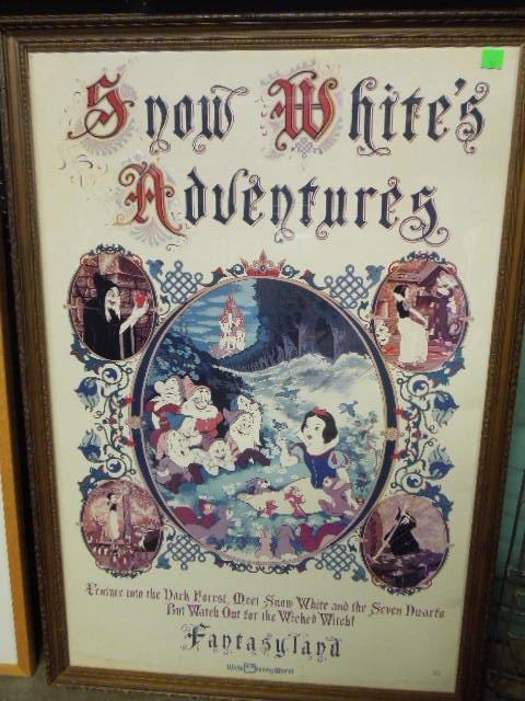 Framed Disney Fantasyland Poster
