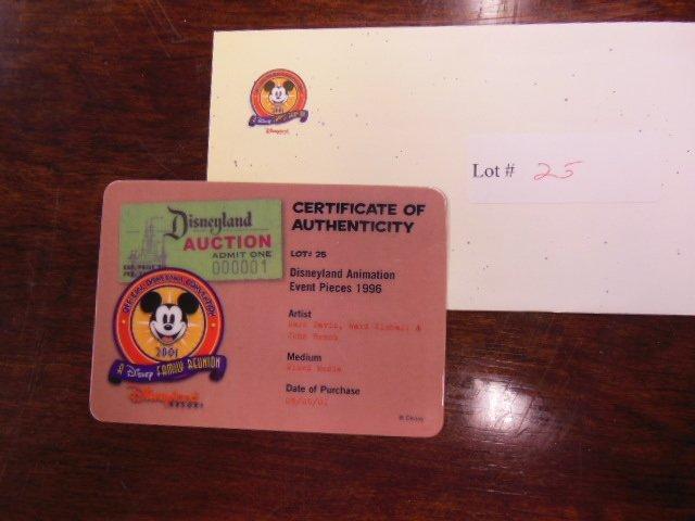 Disney Animation Event piece J. Cricket signed - 4