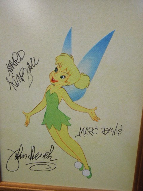 Disney Animation Event piece Tinkerbell signed - 2