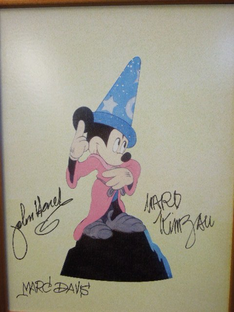 Disney Animation Event pc. Mickey Sorcerer signed - 2