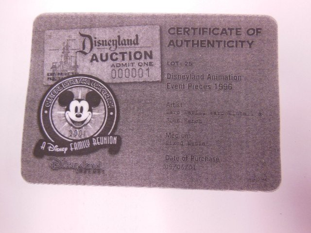 Disney Animation Event pc. Mickey Sorcerer signed - 3