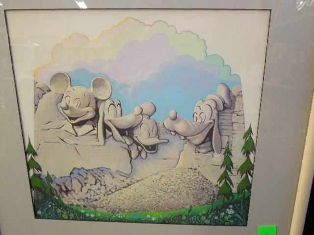 Framed Gouache Disney Mount Rushmore - 2