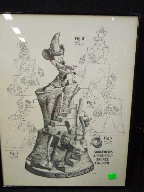 Framed Disney Print Sorcerer's Apprentice