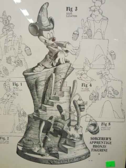 Framed Disney Print Sorcerer's Apprentice - 6