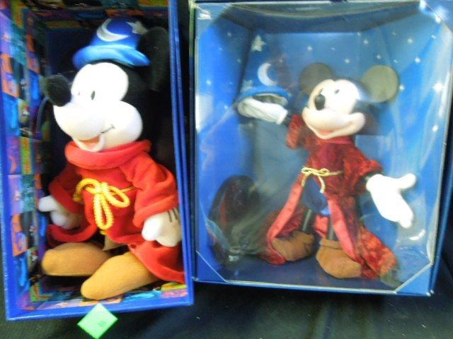 2 Mickey Sorcerer Dolls NIB