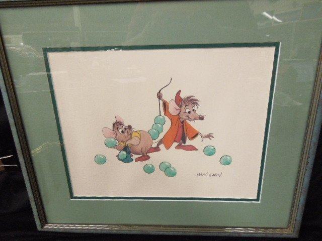Framed Repro Cinderella Prod Sketch Print