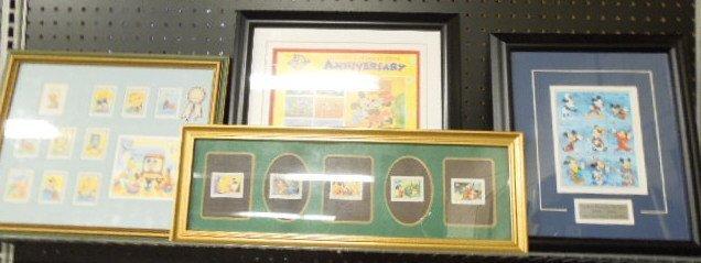 4 Framed Disney Stamp Sets