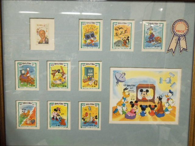 4 Framed Disney Stamp Sets - 2