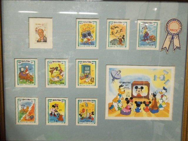 4 Framed Disney Stamp Sets - 2
