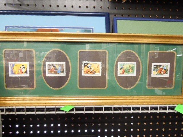 4 Framed Disney Stamp Sets - 3
