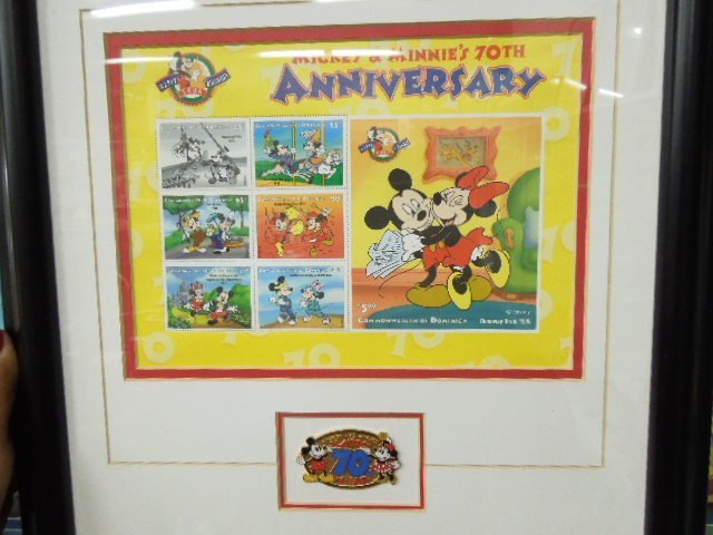 4 Framed Disney Stamp Sets - 6