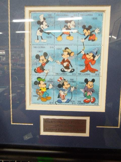 4 Framed Disney Stamp Sets - 8