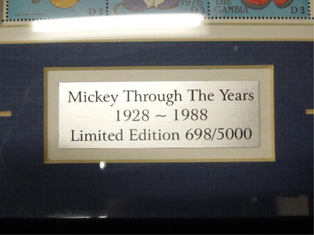 4 Framed Disney Stamp Sets - 9