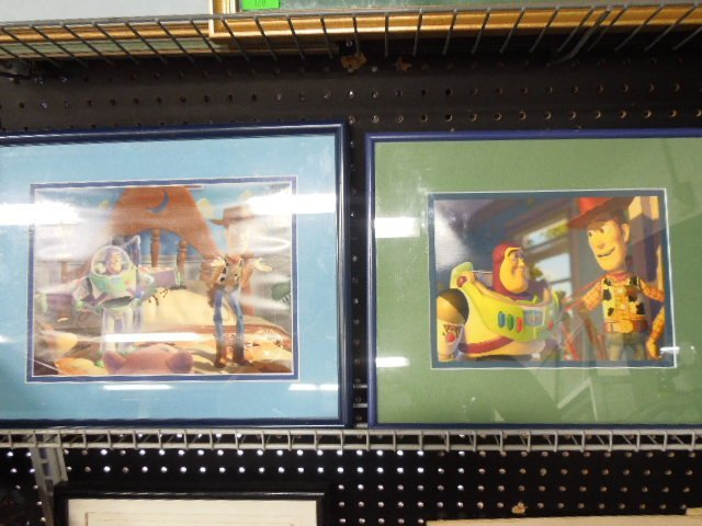 2 Toy Story Framed Lithographs