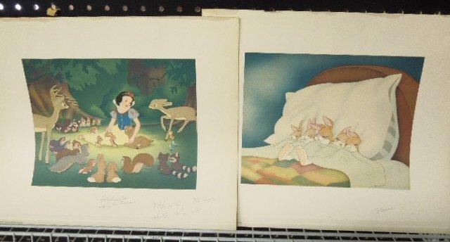 2 Disney Artist Prints, Unframed