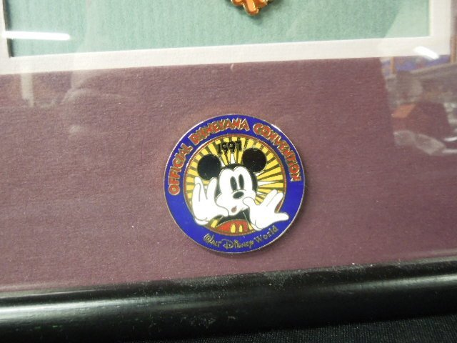 Framed 1997 Disneyana Cloisonne Pin Set - 3