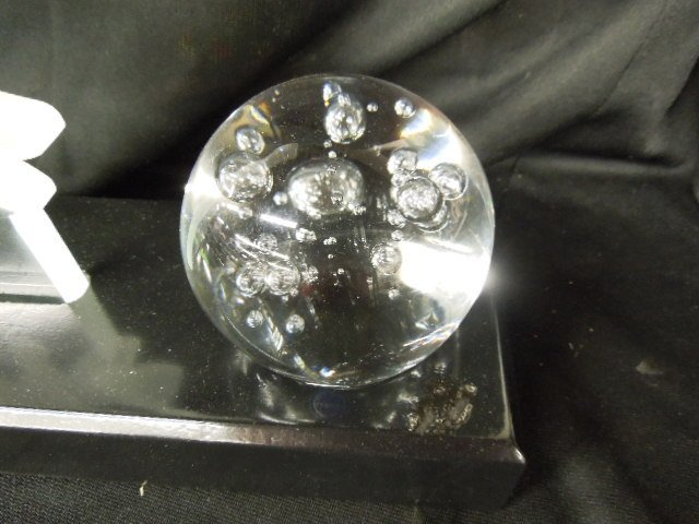 Disney Etched Glass Mickey Sorcerer Sculpture - 2