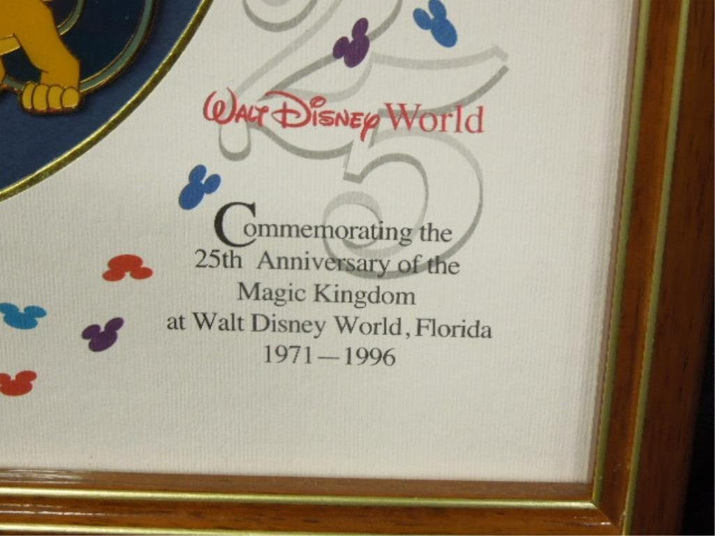 25th Anniv. WDW Cloisonne Framed Pin Set - 3