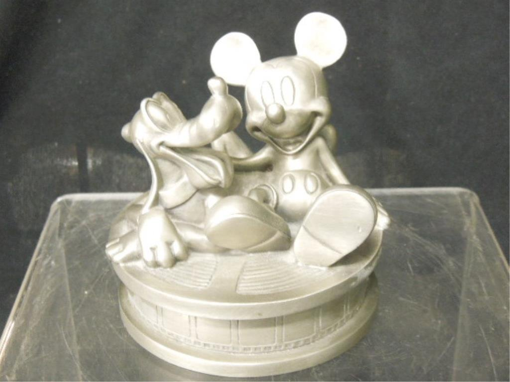 Two 1998 Disneyana Pewter Figure Boxes NIB