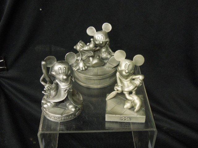 3 Disneyana Convention Pewter Figures