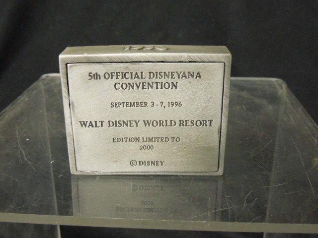 3 Disneyana Convention Pewter Figures - 7