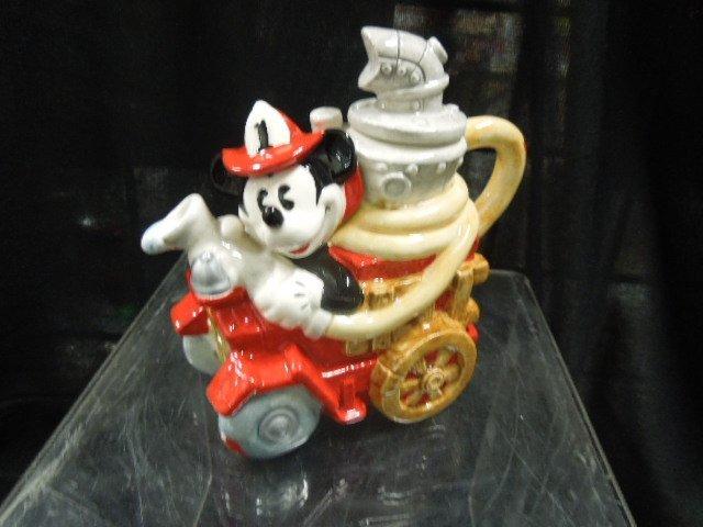 Enesco Mickey Fire Brigade porcelain mini teapots