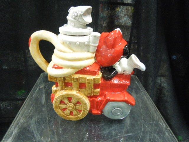 Enesco Mickey Fire Brigade porcelain mini teapots - 2