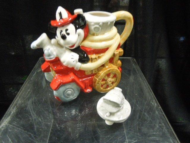Enesco Mickey Fire Brigade porcelain mini teapots - 3