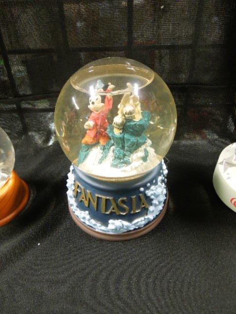 3 Disney Mickey Sorcerer Snowglobes - 3