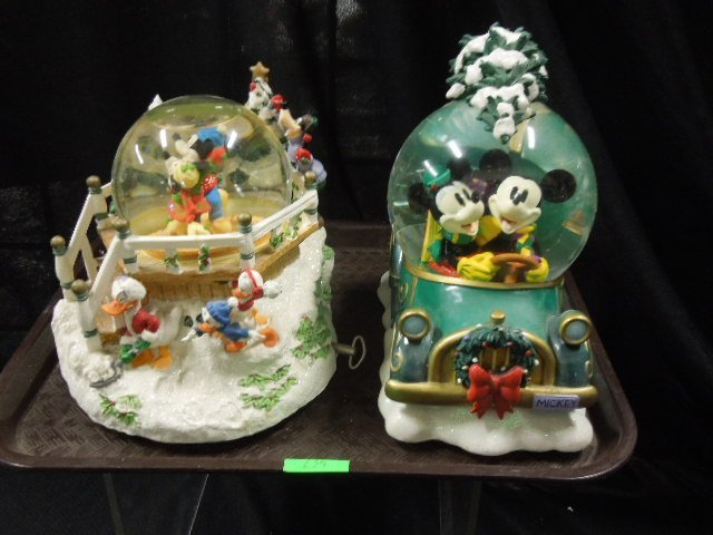 2 Disney Musical Christmas Snowglobes