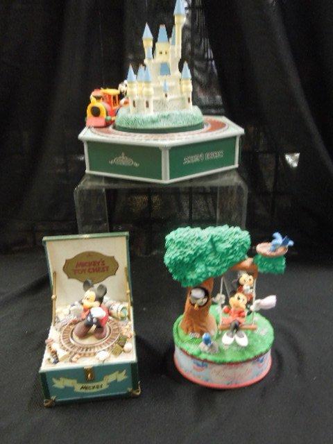 3 Disney Music Boxes