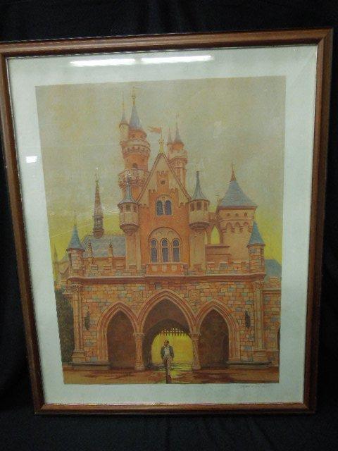 Framed Walt Disney Lithograph Signed