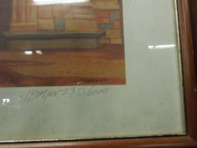 Framed Walt Disney Lithograph Signed - 2
