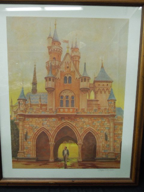 Framed Walt Disney Lithograph Signed